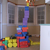One of the many creations made by our grandchildren. These blocks - two sets of them - have been one of their favorite play things.
