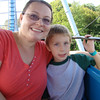 Me with Aidan on the skyride!