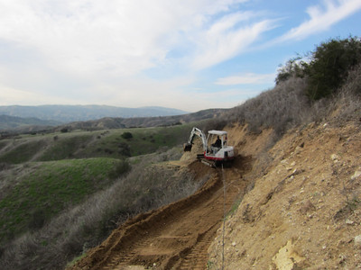 Clearing slides on the Oakmont Trail
