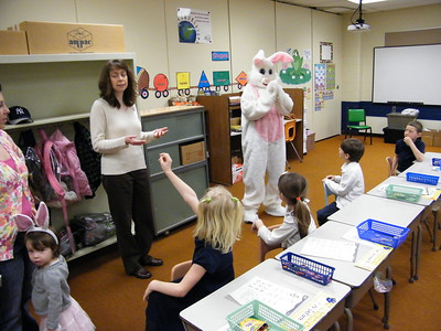 Easter Bunny Visits Rush Elementary School, Tamaqua (4-19-2011)