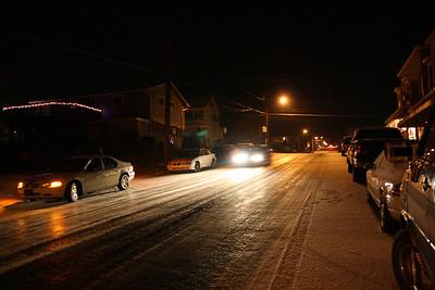 Frozen Road, Hill, 2nd Street, Coaldale (12-29-2011)