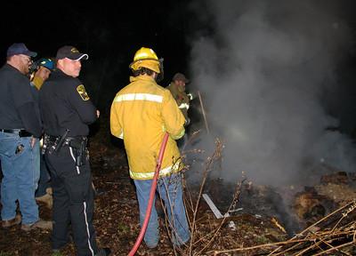 Garbage Fire, Brush Fire, Blue Mountain Drive, West Penn (12-20-2011)