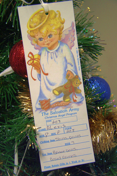 Need for Angel Trees, Salvation Army, Tamaqua (12-15-2011)