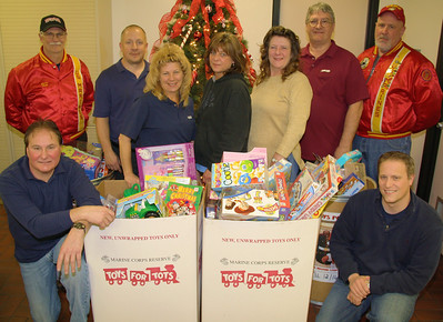 Toys For Tots Donation, Ametek, Nesquehoning (12-16-2011)