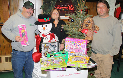 Toys For Tots Donation, Keystone Fish and Hunt Club, Tamaqua (12-20-2011)