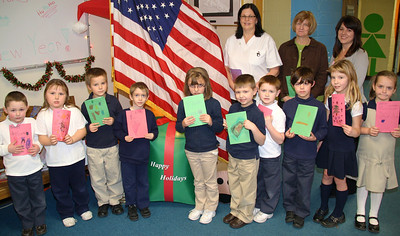 XMas Cards for Troops, Rush Elementary School, Hometown (12-16-2011)