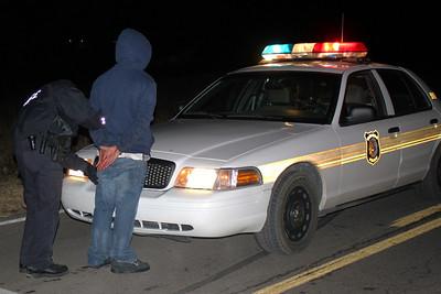 Abandoned, Destroyed Vehicle Leads to Arrests, Tuscarora Park Road, Barnesville (2-27-2011)