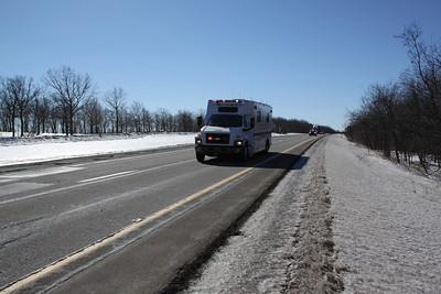 I-81 Closed, Hazmat Spill, Kline Township (2-15-2011)