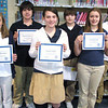 Middle School Students of the Month, Tamaqua (2-7-2011) :