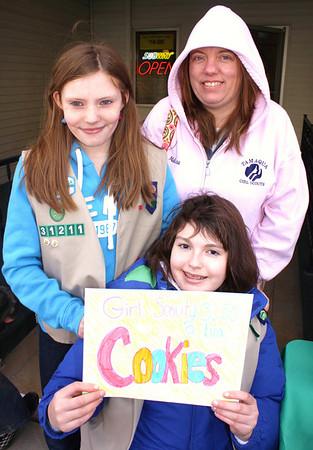 Tamaqua Girl Scouts Selling Girl Scout Cookies, Subway, Tamaqua (2-27-2011)
