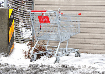 Littered Shopping Carts, Tamaqua (1-19-2011)