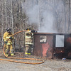 Dumpster Fire, Locust Lake Road, Ryan Township (3-30-2011) :