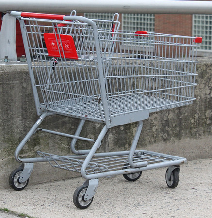 Littered Shopping Cart, Mauch Chunk St, Tamaqua (5-22-2011)