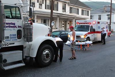Man Struck by Tractor Trailer, Pine St, Tamaqua (5-31-2011)