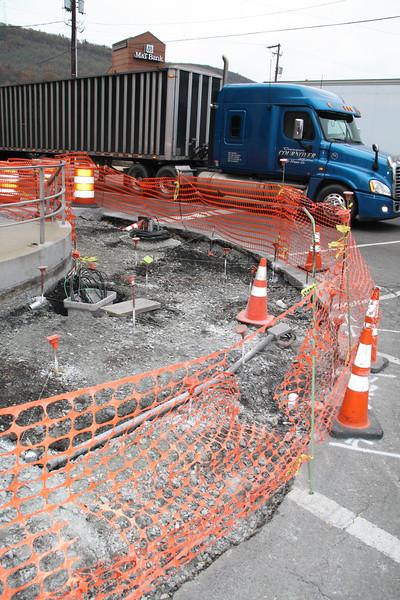 Curb Ramp Construction, Five Points, Tamaqua (10-26-2011)