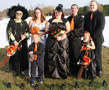 Halloween Wedding, Sky View Cemetery, Hometown (10-31-2011)