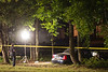 8/24/2011 Police Need Help Solving a Murder in Lexington Park : On August 24, 2011 at 11:38 P.M. police units responded to the area of Sell Drive, Lexington Park, Maryland for the report of a motor vehicle striking a tree.  Upon police arrival it was determined the operator of the vehicle, Deandre Agustus Hawkins, age 20, of Lexington Park had a gunshot wound in his upper torso.  Hawkins was transported to St. Mary's Hospital where he succumbed to his injuries.  The St. Mary's County Bureau of Criminal Investigations and the St. Mary's County Sheriff's Office Accident Reconstruction Team are continuing an investigation into this incident. 