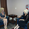 WJCT's Melissa Ross and Diane Rehm before the program.