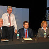 WJCT President & CEO Michael Boylan (standing), with panelists John Burr (Jacksonville Business Journal), Matt Galnor (Florida Times-Union/Jacksonville.com) and Roxy Tyler (WOKV AM/FM)