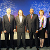 Jacksonville mayoral candidates Alvin Brown (Dem.), Mike Hogan (Rep.), Steve Irvine (Independent), Warren Lee (Dem.), Audrey Moran (Rep.) and Rick Mullaney (Rep.)