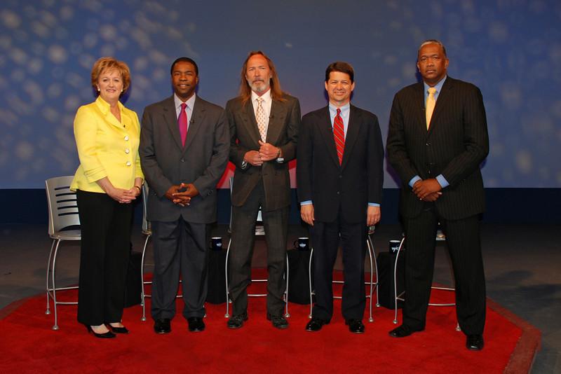 Candidate Audrey Moran, Alvin Brown, Steve Irvine, Rick Mullaney, Warren Lee.