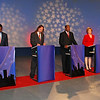 Jacksonville mayoral candidates Alvin Brown (Dem.), Steve Irvine (Independent), Warren Lee (Dem.), Audrey Moran (Rep.) and Rick Mullaney (Rep.)