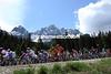 The peloton has more than enough time to enjoy the Italian Dolomites today...