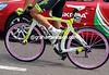 Green wheels last week, Pink wheels today - Oscar Gatto is the epitome of bicycle fashion...