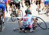 Another German, Sebastian Lang, has fallen off - the chaos could help bring Kloden back to the speeding peloton...