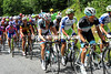 There's not much sign of life in the peloton - Monfort guards Frank Schleck who's got Basso alongside him...