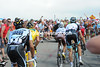 Alberto Contador is at the back of the Schleck-Basso-Evans group, the Spaniard is just not himself in this Tour..!