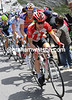 Levi Leipheimer has got himself into a counter attack on the climb, but it goes no-where...