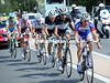 Schleck has joined the escape on the Col du Lautaret, where a Quick-Step rider mraculously helps them gain ground on the pelotin...