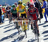 Evans realises the seriousness of the fight as the Galibier begins...