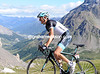 Schleck continues his progress to the finish...