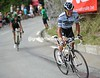 Contador attacks on the Alpe d'Huez - passing Rolland and Hesjedal who attacked earlier...
