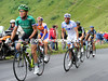 Voeckler leads the escape up the Puy Mary - they have about five minutes in-hand...