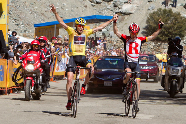Leipheimer has won the stage, and Horner has secured the overall victory barring any unforseen issues during stage 8.