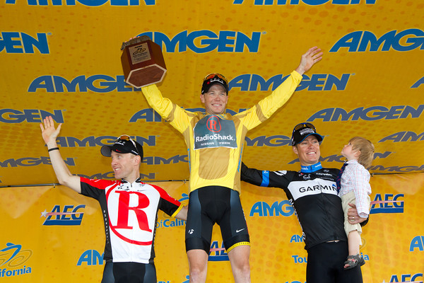 The overall GC podium, of Horner, Leipheimer and Danielson.