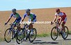 Three men are galloping away in this quiet corner of Spain - Rosendo, Cabello, and Fouchard have an eight minutes lead after 40-kilometres...
