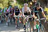 Team Sky is leading the chase now, with Lovkvist ahead of Wiggins and Froome - up ahead Lastras has attacked from the escape...