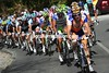 Rabobank leads the chase, they hope Steven Van Kruijswijk can be the day's winner...