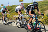 Chris Froome is pacing Bradley Wiggins on a windswept part of the mountain - they're dropping everybody else and closing in on Nibali and Martin...