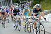 Thirty-one riders are in the escape, including Leopard's Fuglsang, Voigt and Schleck...