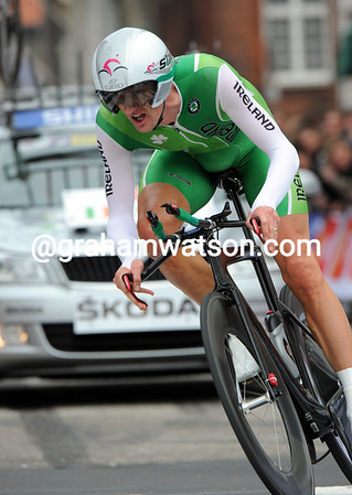 "Ireland's David McCann clocked 27th today, 4' 53"" down on the winner..."