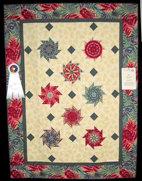 Best Hand Quilting<br /> Kaleidoscope in Paradise<br /> Patty Showen