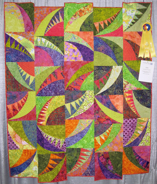 Honorable Mention<br /> A Little Off Kilter<br /> Honeybee Quilters' Guild