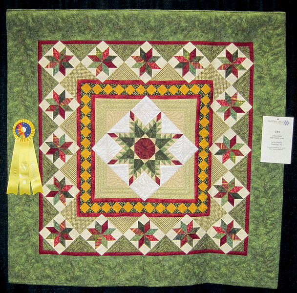 Honorable Mention<br /> Christmas Feathered Star<br /> Becky Stowers