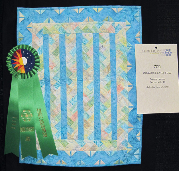 Judge's Recognition<br /> Miniature Batik Braid<br /> Joanne Herman