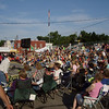 Yup, that's a big crowd.  Can't see all the people behind the bleachers in the hogroast dinner tent and other tents where they sought shade from the sun to listen to the concert.